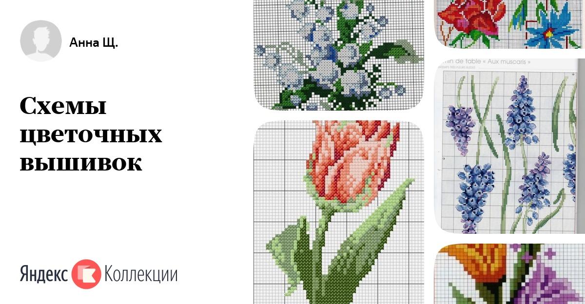 Схемы вышивки крестом букеты тюльпанов