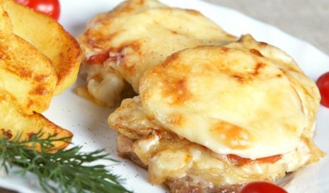 Мясо по-французски рецепт пошагово с грибами шампиньонами