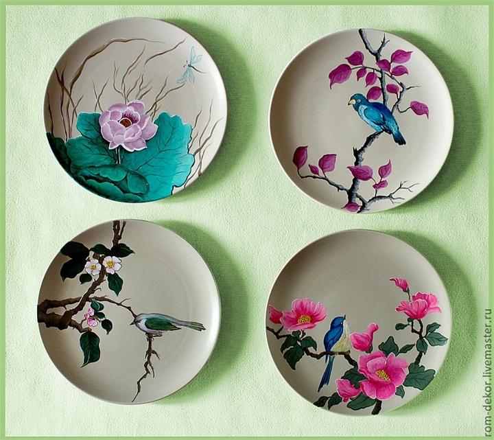 Чем украсить тарелки своими руками