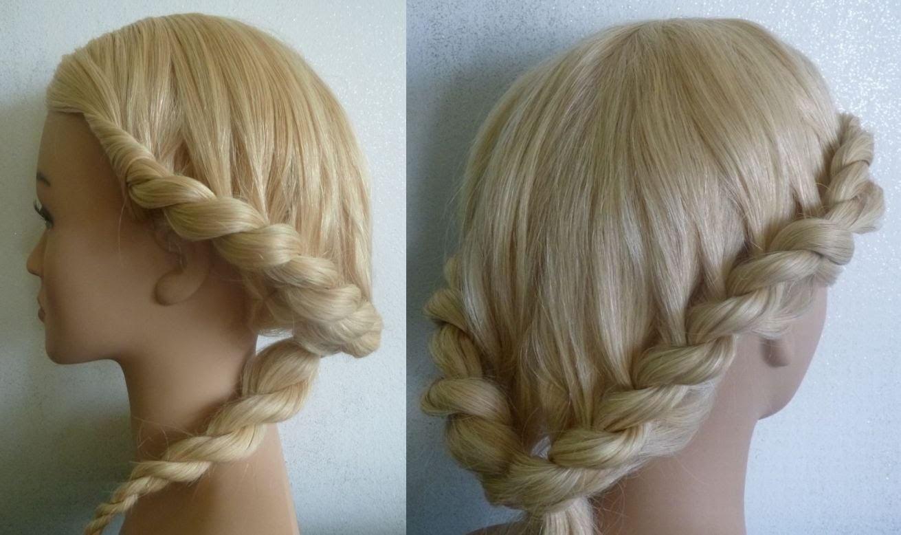 Фото причесок с косами и жгутами