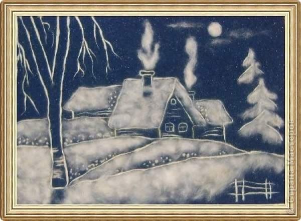 Картины своими руками зимние