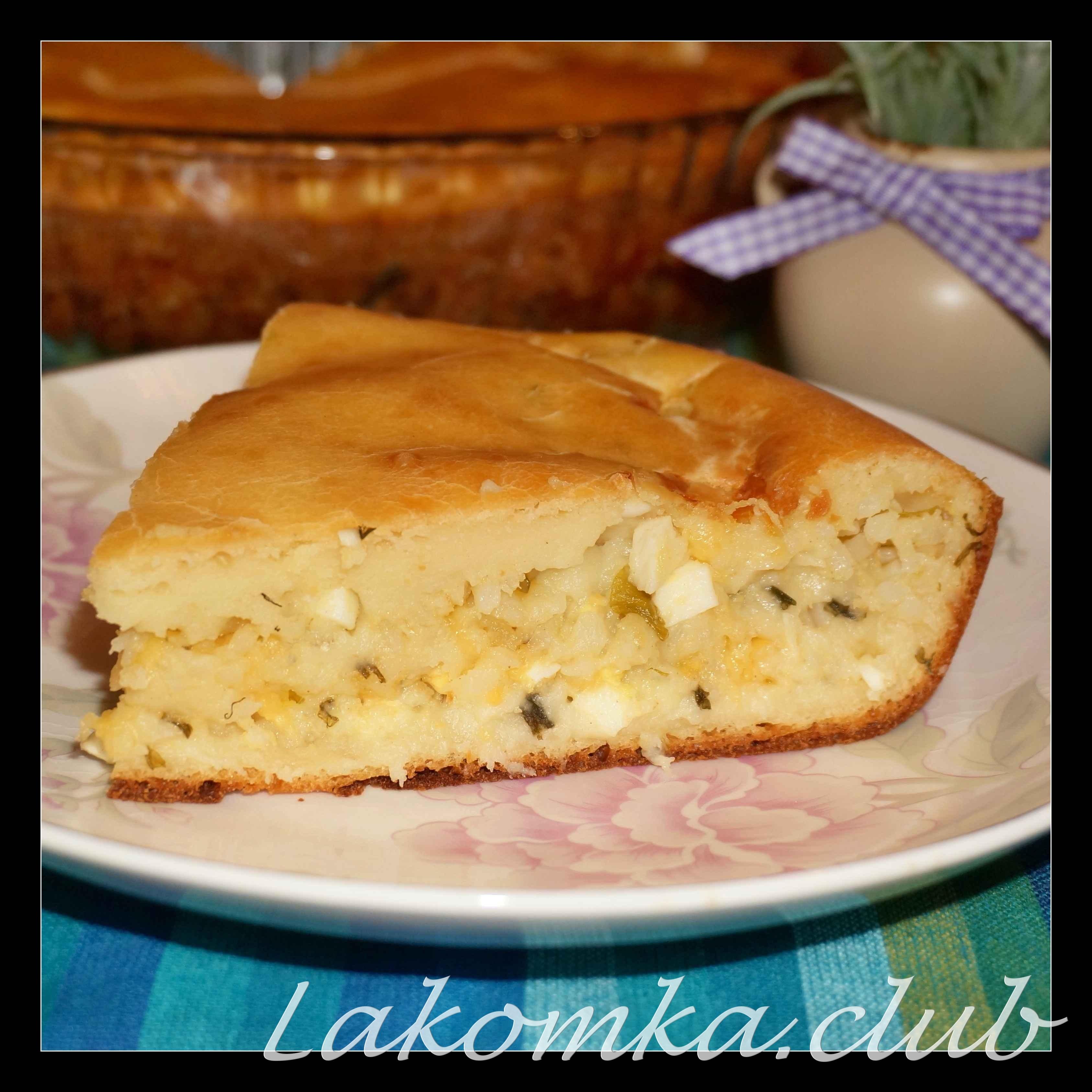 Рецепты пирожки с рисом и яйцом