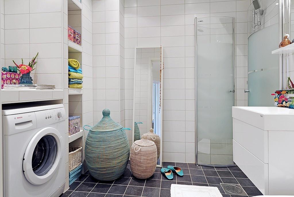 Дизайн ванной 6 квм с стиральной машиной