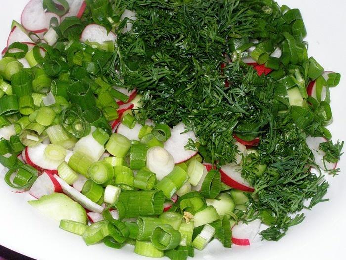 Овощной салат и его состав